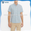 2016 new model 100% cotton short sleeve one pocket shirts for men slim fit