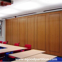 Most popular high quality office used soundproof sliding folding partition wall