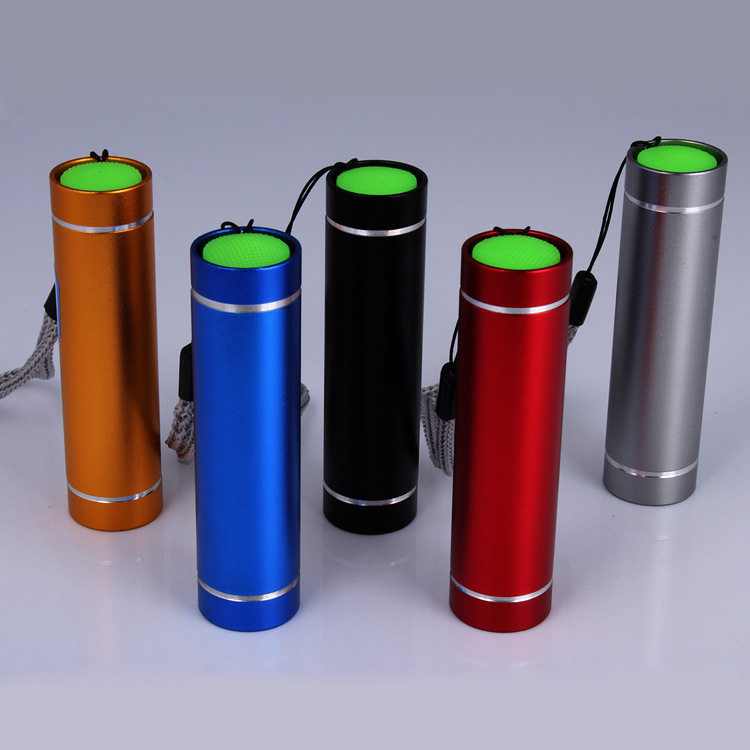 1W Mini High Brightness Aluminium Color Mini LED Flashlight Torch With Keychain