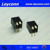 Leyconn black 2-12 Position Pitch 2.54mm H6.5mm Piano Type DIP Switch