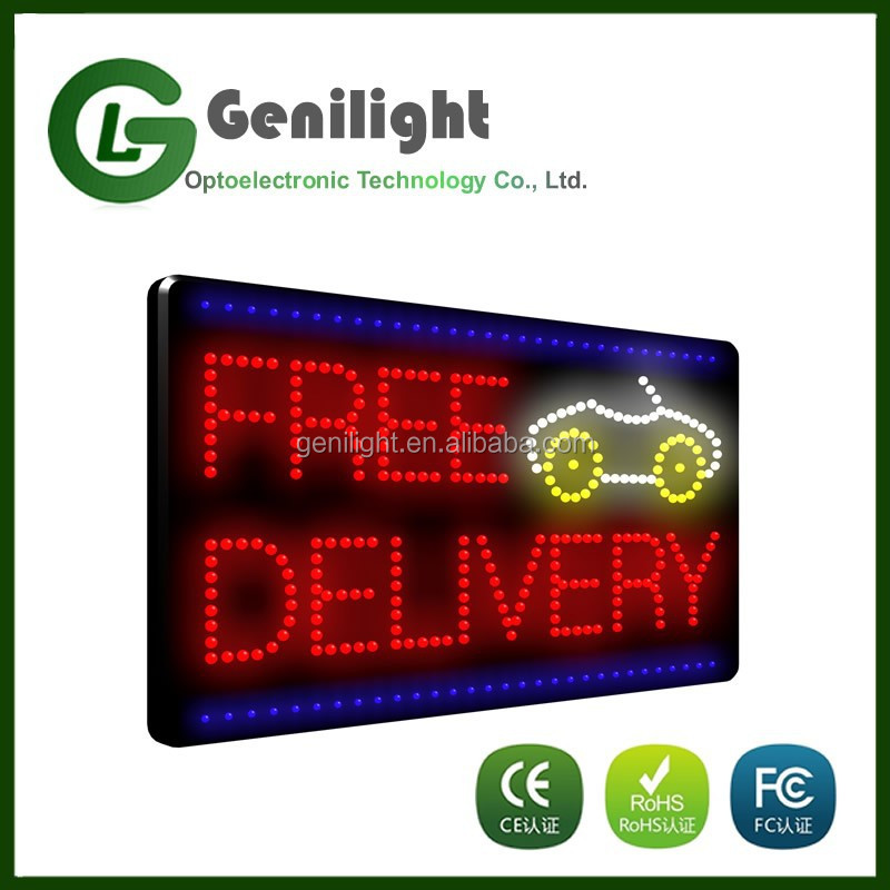hot sale electronic build LED windows free delivery signs