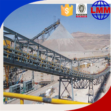Flat top mobile concrete conveyor belt Trial Running made in China