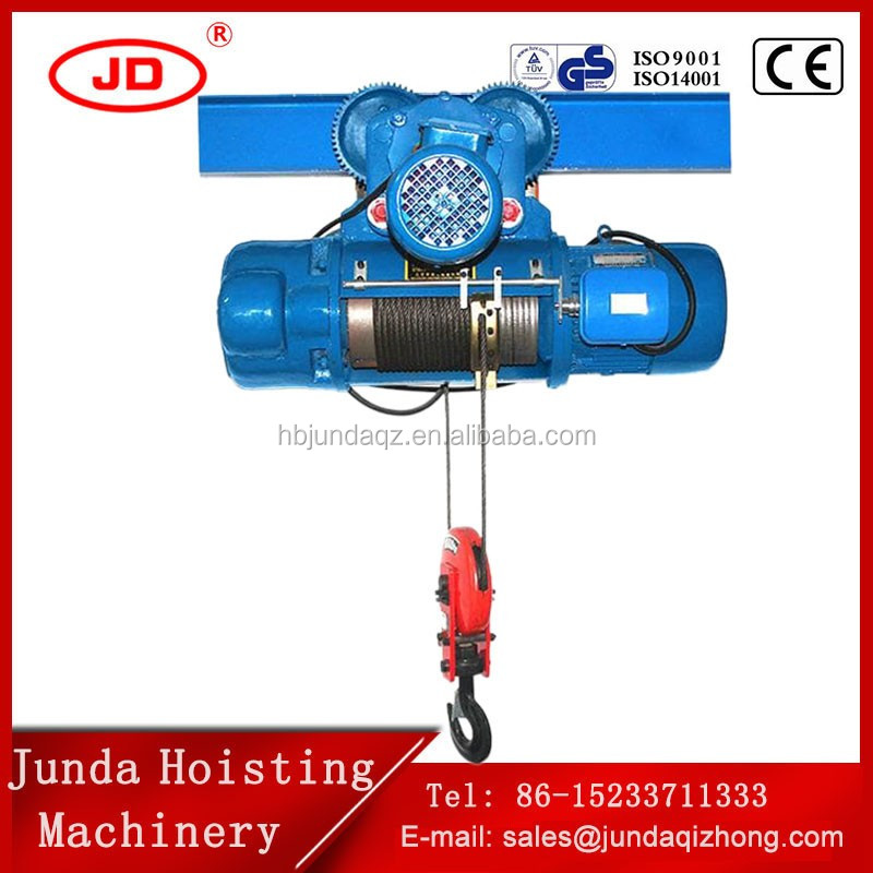 CD1 MD1 Wire rope Electric Cable Hoist Heavy Duty lifting crane system