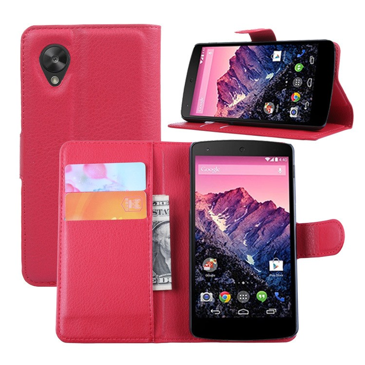 Factory Wholesale Cheap Price Mobile Phone Case For Google Nexus 5 Leather Flip Cover , For Google Nexus 5 Leather Case