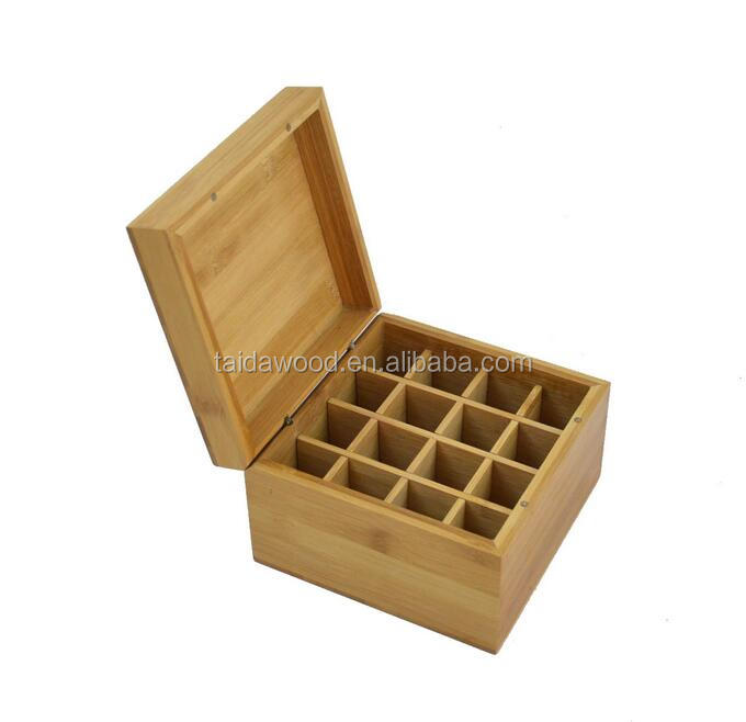 bamboo wooden essential oil box with Magnets
