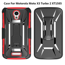 Factory Wholesale Price Mobile Phone Shell For Motorola Moto X3 Armor Case , Belt Clip Cover For Motorola Moto X3 Turbo 2 XT1585