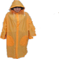 orange waterproof PVC adult long raincoats and rainwear