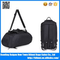 Multifunction nylon duffle travel backpack with shoe compartment gym duffle bag