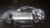 Latest design handmade crystal glass 3d car model