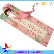High quality women's garment hole punch hang tag with silk string