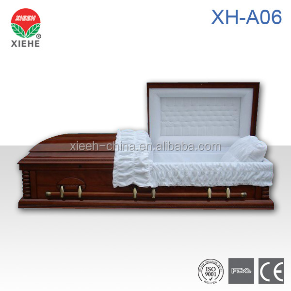 XH-A06Wood Funeral Coffin