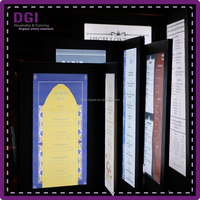 Hotel restaurant bar used led light display (Patent Product 2014-2-0239452.0) / illuminated light up menu / light menu cover