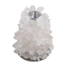 Fabricante por atacado suporte de vela de cristal de quartzo natural gem art craft home decor