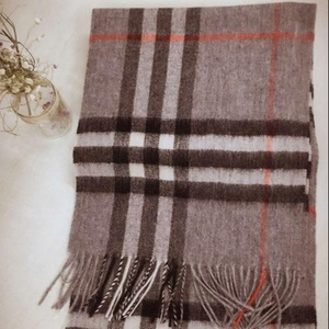 Scarf wool Warm wool check scarf for men and women in autumn and winter Scarf woo