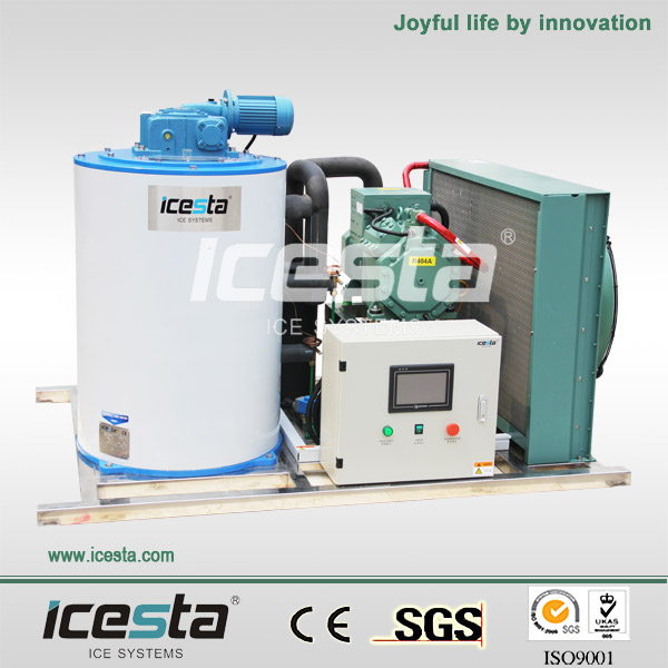 ICESTA Small Commercial Ice Flake Machinery for fish market