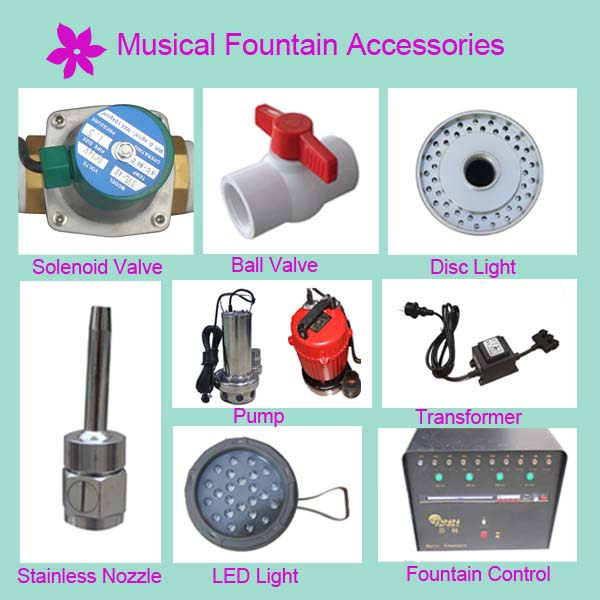 munufacture fountain accessories water fountain parts