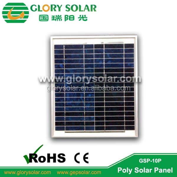 Energy Saving 18V 10W Poly Solar Panel For Light And Portable Solar System