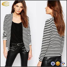 Ecoach high quality super comfort Stripe ladies blazer designs ladies formal blazer ladies blazer