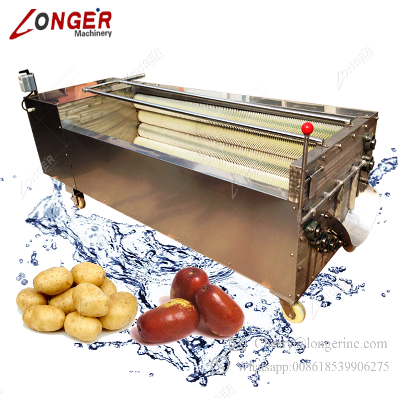 Stainless Steel Industrial Fruit Peeling Vegetable Washing Machine