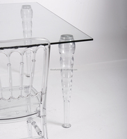 glass banquet table/glass dining table