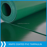 green color PVC coated tarpaulin fabric with eyelet