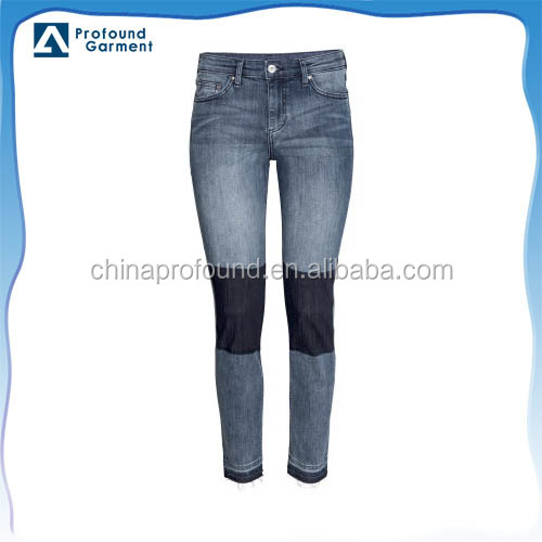 new model jeans new pattern jeans pants with patchs manufacturers of women's jeans