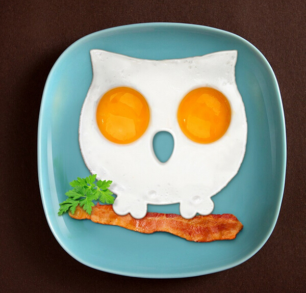 funny side up owl fried egg shaper, non stick egg ring fryer,animal shaped silicone egg mold owl