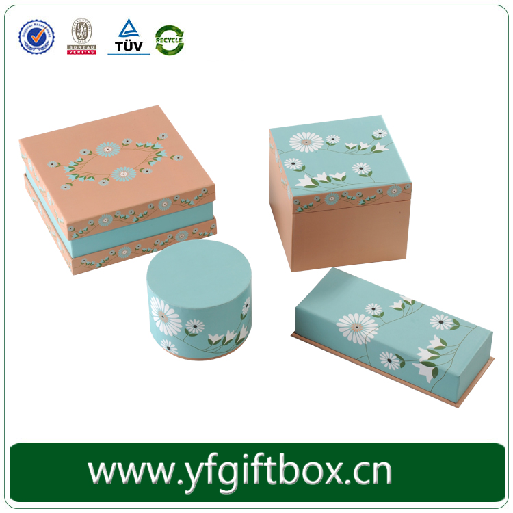Eco-friendly acid free paper gift box with custom logo and print