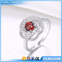 Flower shape ring design ,new arrival hot selling ring jewelry