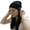 Washable Winter Men Women Hat Bluetooth Beanie Running Cap w/ Wireless Stereo Headphones Mic Hands Free Rechargeable Battery for