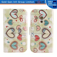 With Diamond Leather+TPU Flip Cover Case for Samsung S3 mini i8190