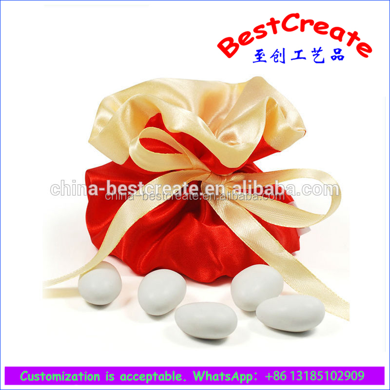 Custom design Red Fashion Easter egg drawstring bag for weddings and parties