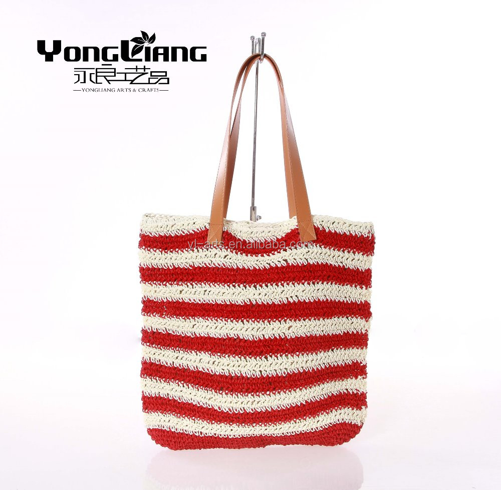 good quality cheap crochet stitching color bag