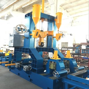 3 In 1 H Beam Combination Machine For H Beam Assembly , Welding And Straightening Together