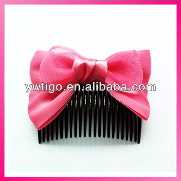 fashion asian ribbon bowtie plastic hair ornament