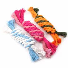 2015 Pet Product Natural Cotton material dog chewing rope toy sex toy for pet
