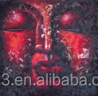 Red buddha oil painting hand painted on canvas wall art <strong>picture</strong>