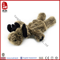 2014 new product plush christmas reindeer pet toy unstuffed toy for dog