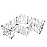 Pet Playpen Enclosure Cage Small Animal Cage Indoor Portable Metal Wire Yard Fence 12 panels