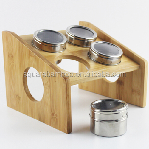 Bamboo spice set,metal bread bin biscuit tea coffee sugar canister set