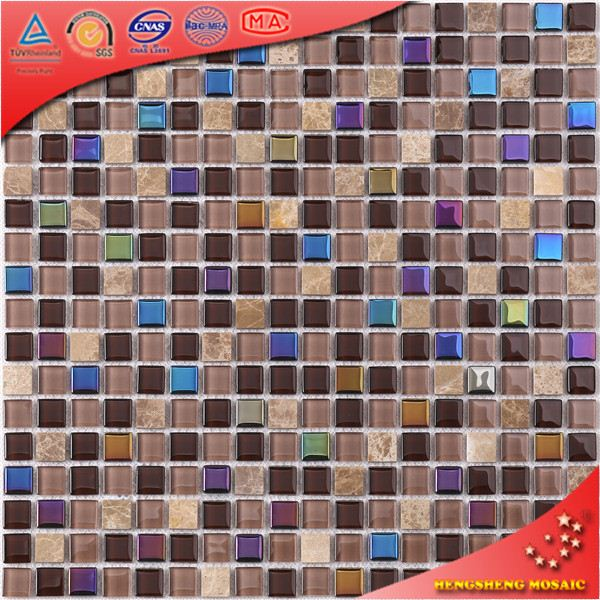 Colorful Glass Mosaic Kitchen Wall Tile Design Patterns HK66
