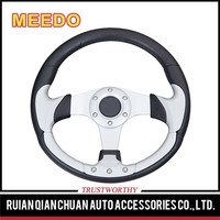 Steering Wheel 320mm PU Private Custom Modified Steering Wheels For Sports Car Mitsubishi Chevrolet Ford Honda Veloster