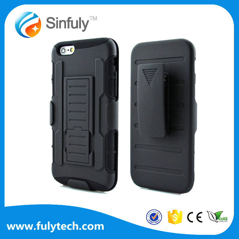 Wholesale ODM Phone Accessories Case for iphone 6 6s 7 plus 3 in 1 Hybrid Combo Future Armor Case