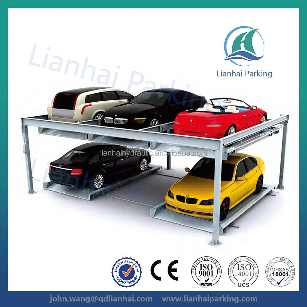 Lianhai two level automated car parking machine garage with CE