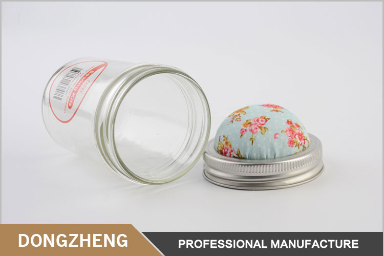 Wholesale custom needlework material sewing kits glass storage jar