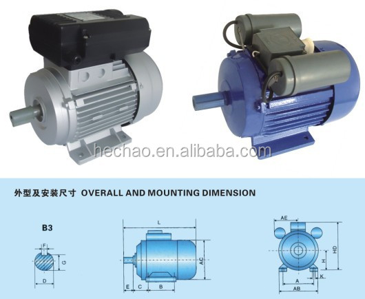1400RPM single phase 1hp electric motor