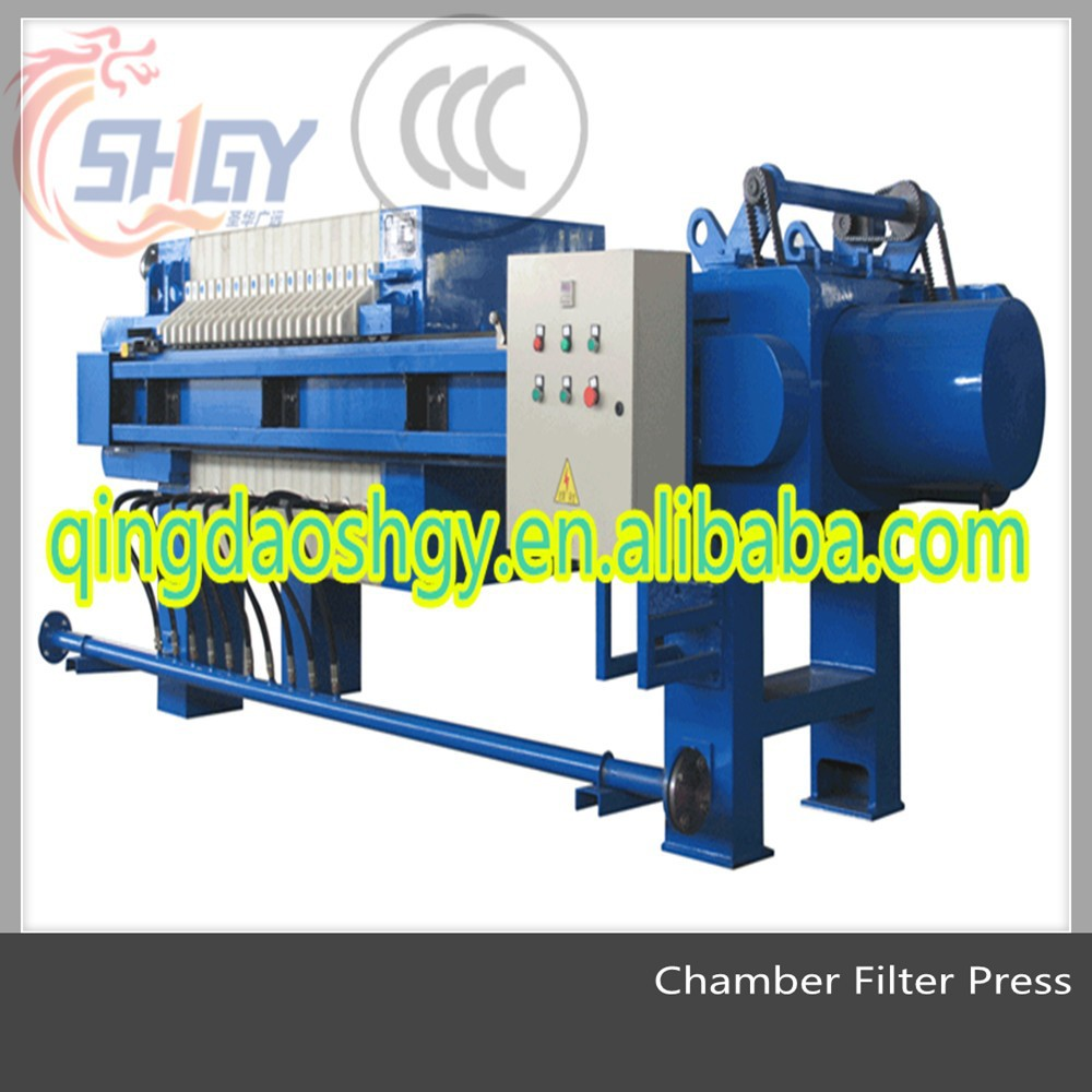 Hydraulic Chamber Filter Press for Ceramic Sludge treatment/wastewater treatment , Sludge Dewatering board Frame Filter Press