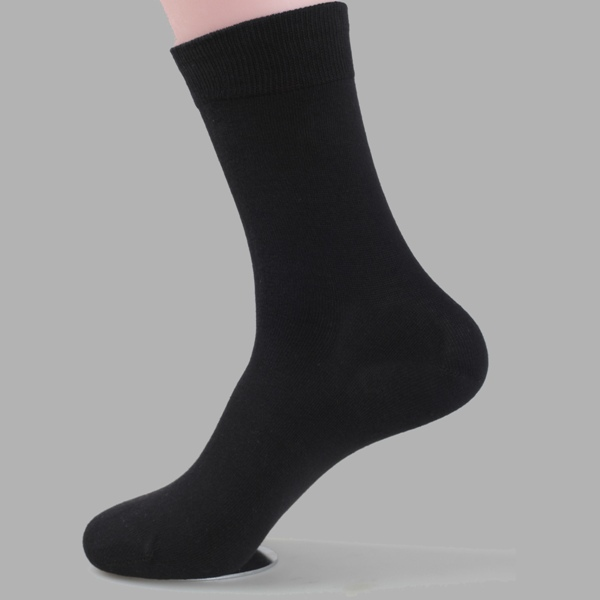 Wholesale Student Teen Tube Cotton Black Men Socks