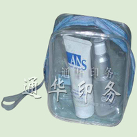 Transparent pvc handle zipper lock cosmetic bag/lady make up bag