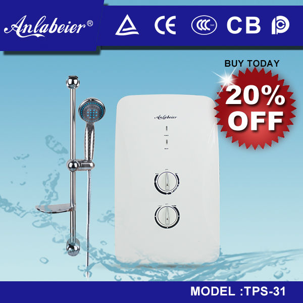 99% energy efficient tankless electric shower head water heaters